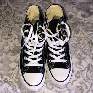 Black and White All Star Converse High Top